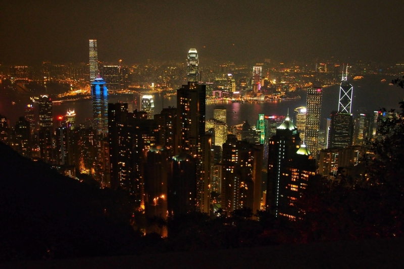HK at night from the Peak. I forget, have I mentioned I love this place?