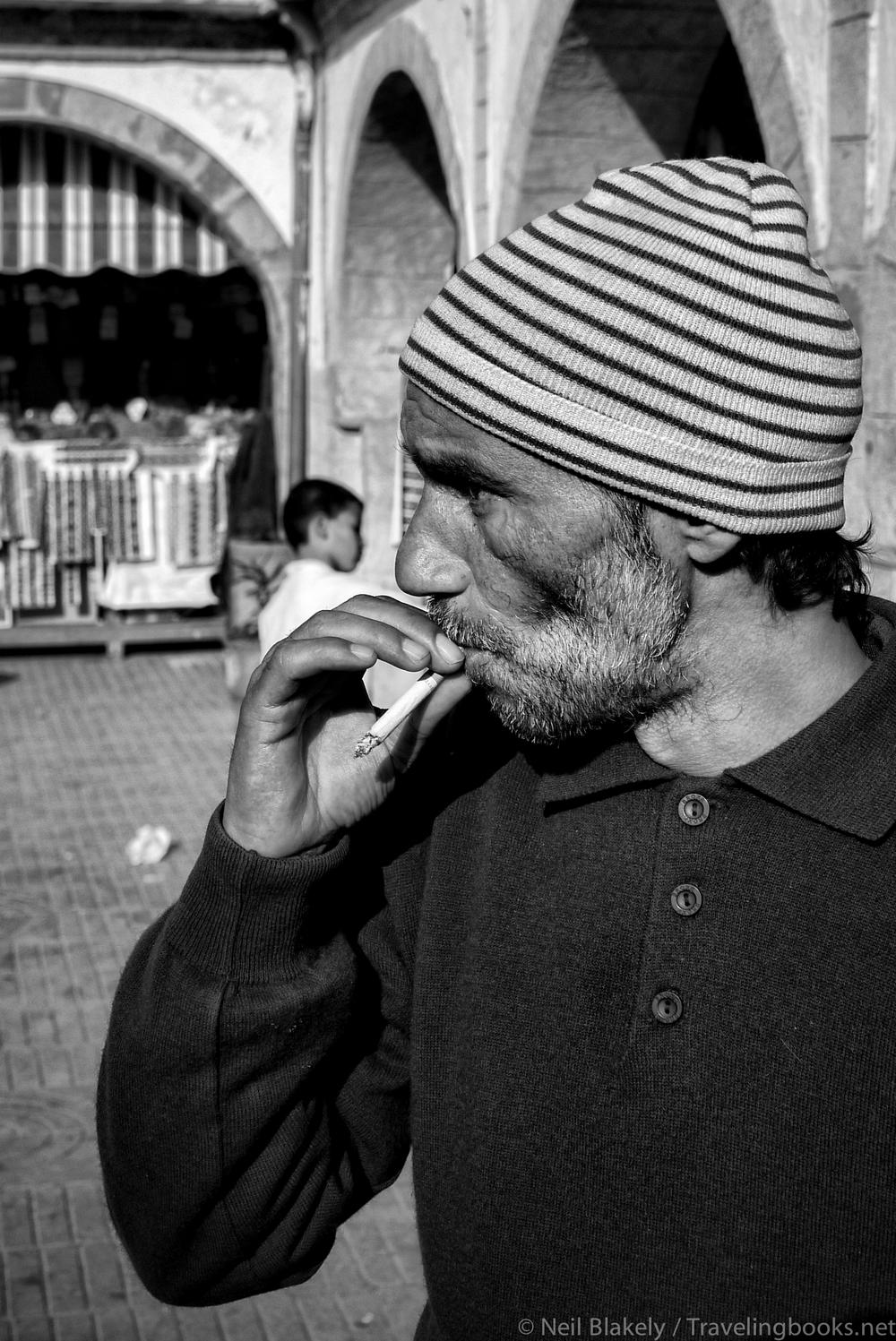 A street vendor inEssaouira, Morocco.