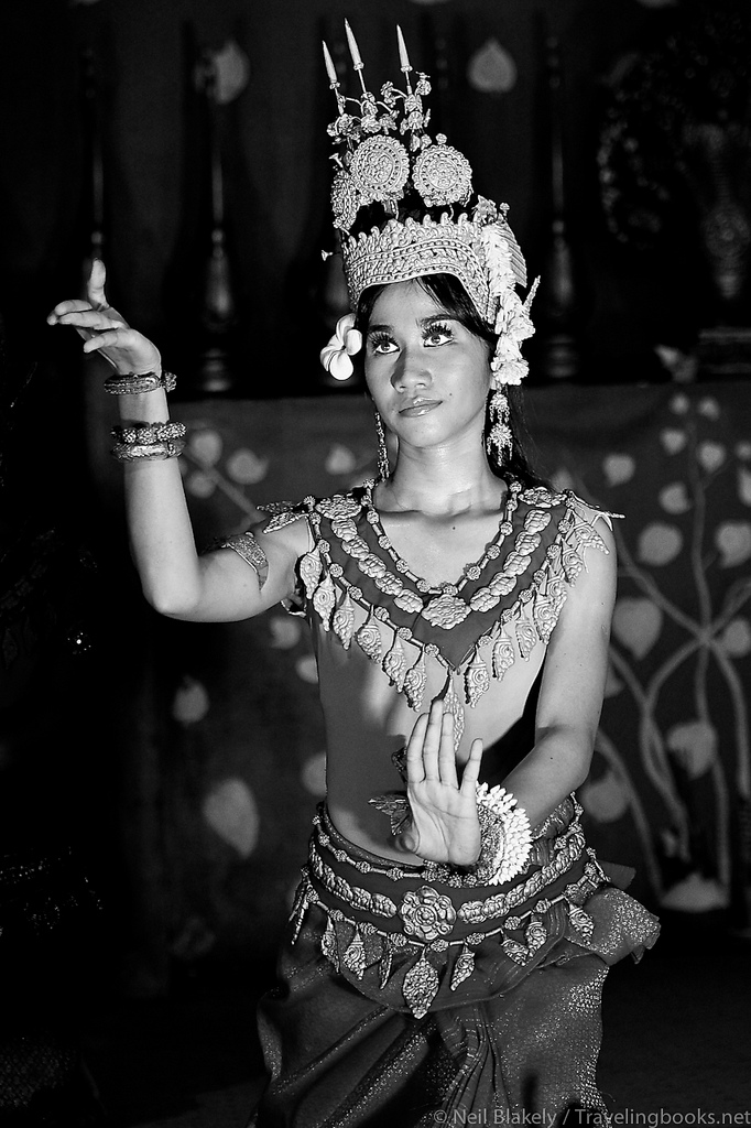 A disintrested dancer in Cambodia.