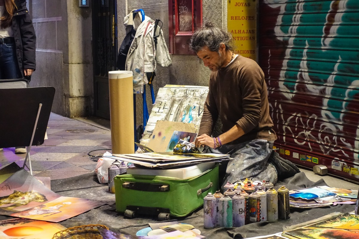 Photo of the Week: A Street Artist in Madrid